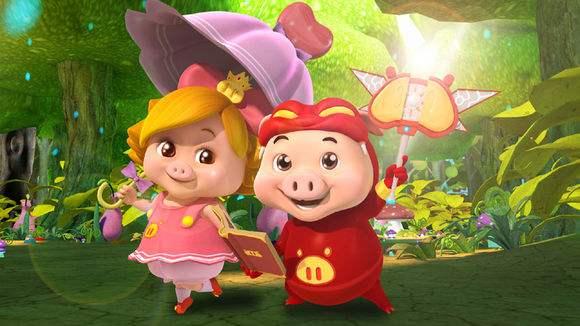 六一儿童节祝福图片猪猪侠